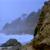 Castaway Island (Scott Holcomb) Tags: mossbeach sanmateocoastline zenzabronicas2 zenzanon135f150mmlens kodakportra160film 6x6 120film mediumformat photoshopdigitalization epsonperfectionv600