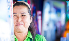 Food Seller (chrom9) Tags: woman girl lady thai thailand jomtien pattaya food seller life street smile genuine pure heart kind mother portrait nikon d3 warm nice asia asian light available