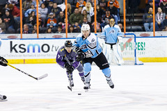 "Missouri Mavericks vs. Alaska Aces, December 16, 2016, Silverstein Eye Centers Arena, Independence, Missouri.  Photo: John Howe / Howe Creative Photography • <a style=""font-size:0.8em;"" href=""http://www.flickr.com/photos/134016632@N02/31607636012/"" target=""_blank"">View on Flickr</a>"