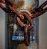 Some days I feel like that . (drpeterrath) Tags: macro closeup lock chain rust outdoor naturallight steel canon eos5dsr 5dsr depthoffield