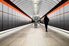 Kreillerstrasse (sinnesblicke) Tags: münchen munich indoor ubahn kreillerstrasse woman metro underground architecture fujifilm fujinon14 fujixe2 color travel city germany deutschland