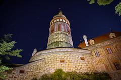 The tower of Český Krumlov castle (marko.erman) Tags: českýkrumlov czechrepublic sony castle tower monument worldheritage unesco architecture night colors light popular travel painted