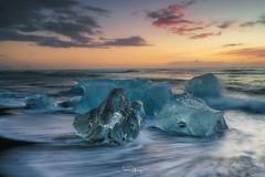 Ice Cluster (shaunyoung365) Tags: iceland iceberg sonya7rii beach jökulsárlón sunrise