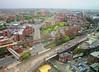Manchester, UK (WhiteVega) Tags: city aerialview tram transport metrolink urban buildings