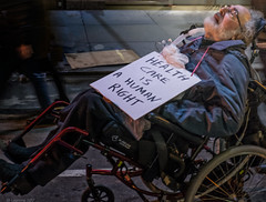 A Human Right (Robert Lejeune) Tags: protest antitrumpprotest disability illness streetphotography