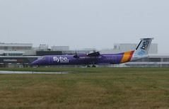 G-PRPB wet landing. (aitch tee) Tags: cardiffairport aircraft turboprop airliner dhc8 flybe landing weather wet spray gprpb cwlegff maesawyrcaerdydd walesuk