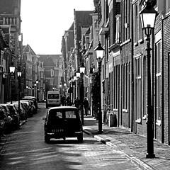 Hoorn, North Holland, Netherlands (pom.angers) Tags: panasonicdmctz10 march 2011 car vintagecar hoorn northholland netherlands europeanunion streetlights 100