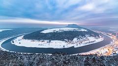 Blick von der Festung Königstein (Bilderweise Hobbyfotografie) Tags: festung königstein elbe winter snow schnee sachsen saxony sächsischeschweiz saxonyswitzerland landschaft landscape