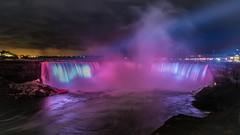 The cauldron (anthonyronchi) Tags: niagarafalls zeiss sonya7rii neon lights water night longexposure waterfalls