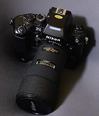 Nikon F4 with AF ED 180 f/2.8 (cnmark) Tags: nikon f4 elmonstro 35mm camera autofocus dp20 mb23 mf23 power pack multifunction back lens af ed 180 f28 ©allrightsreserved