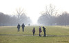 Misty Sibling Rivalry (Areti Antonakopoulou) Tags: family siblings fog walk forest grass kids winter hat