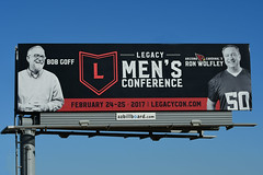 Billboard for Legacy Men's Conference - Santan Freeway Loop 202, Chandler, AZ (azbillboard) Tags: cornerstone legacy men jesus jesuschrist chandler arizona christian worship serve bible god lord conference spiritual ronwolfley ronmerrell bobgoff caljernigan lovedoes faith christ az maricopa phoenix ahwatukee gilbert mesa scottsdale tempe santan santanfreeway loop202 loop101 101 202 pricefreeway i10 traffic billboard billboards ooh outofhome outdooradvertising advertising onsiteinsite ministry 85226 queencreek centralchristian newheights nfl arizonacardinals sports entertainment food music games 2017 february character moralvalues