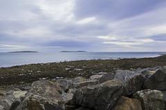 SeaScape (tiki.thing) Tags: sea ocean beach water sky clouds rocks stones seaweed boat blue kilmore quay seaside wexford ireland outside rockpools light 7dwf
