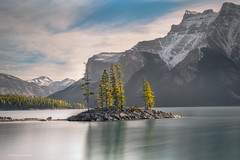 The Island (Margarita Genkova) Tags: rockymountains banffnationalpark lakeminewanka island treesreflection nature landscape lonely
