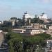Vue le Vitoriano depuis la colline de l'Aventin