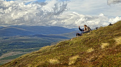 Selfie (NYC Wild) Tags: mountain clouds landscape scotland highlands ben selfie munro wyvis nycwild