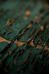 cracked (MadmàT) Tags: wood old green paint cracked