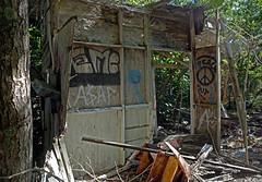 Peace Out (cowyeow) Tags: old usa house abandoned home broken america keys island mess peace sad florida decay destruction ruin creepy forgotten decrepit floridakeys thrashed peaceout