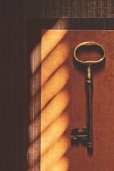Gold Key (L. Paul) Tags: paper gold golden shadows hobbylobby mountpleasant ia lightandshadow shadowsandlight thekey henrycounty patternpaper goldkey keygoldkeybrasskeyorangebrownstripestripeslinesdesigntexturepaperscrapbookpapershadowslightblinds