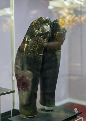 Bronze greaves from the tomb of Seuthes III