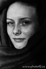 4 (photo42photography) Tags: portrait blackandwhite bw eyes teen blanket