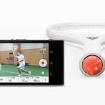 スマートテニスセンサーの写真