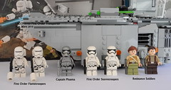 Star Wars LEGO 75103 First Order Transporter (KatanaZ) Tags: starwars lego minifigs minifigures theforceawakens captainphasma firstorderstormtroopers firstordertransporter firstorderflametroopers resistancesoldiers lego75103