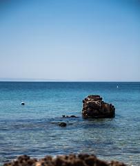 Sea (E.Demiray) Tags: travel blue sea sky sun seascape beach aquarium rocks cove bozcaada anakkale