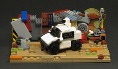 Micro MNU Security Vehicle (Grantmasters) Tags: lego district 9 micro moc