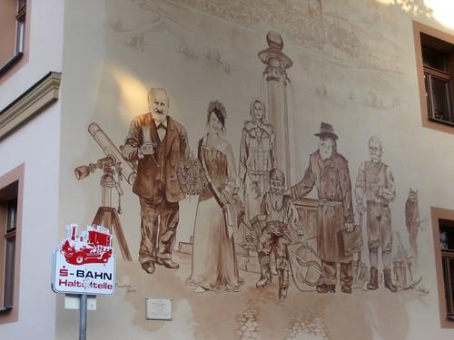 Sangerhausen, Wandmalerei fast am Markt