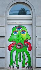 (orientalizing) Tags: streetart green graffiti prague aliens czechrepublic