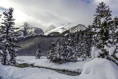 Winterscape (CooT46) Tags: winter mountain lake snow canada water beautiful beauty canon landscape rockies stream view outdoor gorgeous scenic canadian alberta rockymountain rockymountains mountainside lakelouise banffnationalpark ohcanada ef24105mmf4l ef24105f4l abigfave canoncanada bestcountry albertaparks canon5dmarkiii 5d3 5dmarkiii 5dm3 canon5d3 canon5dm3