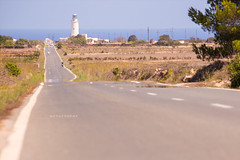 Far de la Mola. (arturii!) Tags: road trip travel summer lighthouse hot nature beauty rural wow faro island islands vanishingpoint amazing nice interesting holidays mediterranean tour superb awesome great dry route cap heat stunning vegetation viatge vacations far formentera impressive gettyimages illa estiu balearic pitiuses arturii arturdebattk canonoes6d