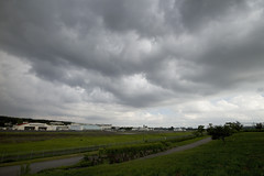 A SMALL AIRPORT, SOME PARKS AND CLOUDS - IX (Jussi Salmiakkinen (JUNJI SUDA)) Tags: summer sky japan clouds airplane landscape tokyo airport woods aircraft parks     chofu