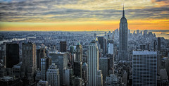 New York Skyline (Mark Chandler Photography) Tags: christmas city newyorkcity travel sunset urban newyork skyline night canon lights dusk centralpark manhattan iceskating empire unitednations empirestatebuilding xsi rockerfellercenter 450d canon450d canonxsi markchandler