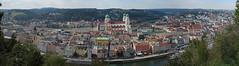 Passau Panorama (SunCat) Tags: travel cruise vacation panorama canon river germany europe all powershot viking passau 2015 g3x