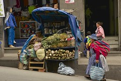 1st October 2015 (EmmaDurnford) Tags: street city woman town herbs traditional hill bolivia bowlerhat lapaz witchesmarket