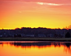 Pink Skies in the Morning (DASEye) Tags: sky lake reflection night sunrise reflections dawn skies reflected davidadamson daseye