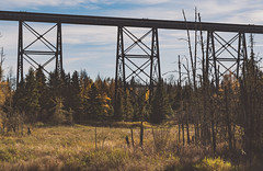 Pass Lake Trestle (Tony Webster) Tags: ca trestle ontario canada traintracks rail railway elevated railwaybridge elevatedtrain railbridge sleepinggiant passlake sibleypeninsula elevatedrailway trestlebridge sleepinggiantprovincialpark railtransport shuniah passlakeroad elevatedrailbridge