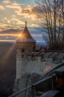 Sonnuntergang auf der Festung Königstein (explore)