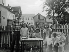 Our neighbor's birthday party 1967 style with head bands, pigtails and dresses.  My sister is in the center with elbows on the table. These kids look like they were having a great time! Milford, Connecticut. July 1967 (wavz13) Tags: lomo memories grain 120film diana oldphotographs grainy dianacamera familyphotos oldphotos oldfamilyphotos oldtimes vintagephotos vintageclothes goodolddays oldphotography vintageclothing vintagephotographs vintagekids oldclothes vintagedresses olddresses familyphotography vintagephotography 1960skids vintagefamilyphotos oldclothing 1960sphotos 1960sdresses 1960slife connecticutphotos summer67 1960sphotography vintageconnecticut 1960sclothes summerof67 1960sclothing oldconnecticut oldmilford 1960sphotographs connecticutphotographs oldconnecticutphotography oldconnecticutphotos vintagemilford vintagefamilyphotography 1960smilford oldfamilyphotography