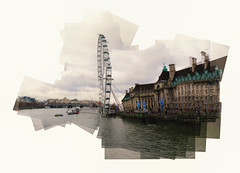 A Panograph of the London Eye in Westminster, London. (Steve Garbutt) Tags: london westminster canon londoneye february 30d panography 2015 panograph sigma55200f4f56