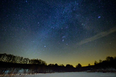 Allenbacher Weiher (gemeiny) Tags: milky way milkyway milchstrase sternenhimmel olympus pro f28 714mm hunsrück schnee winter