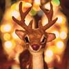 Holiday Bokeh: Rudy - Ready! (Silke Klimesch) Tags: macromonday holidaybokeh bokeh hmm rudy rudolph rudolphtherednosedreindeer chrismaslights elk reddeer rothirsch makrofotografie olympus omd em5 mzuikodigitaled60mm128macro