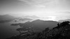 Hikers love to take photos 2 - What A Good View (Gomen S) Tags: landscape people blackandwhite bw 1685mm d5200 nikon cpl hk hongkong china asia tropical 2017 afternoon winter mountain ocean