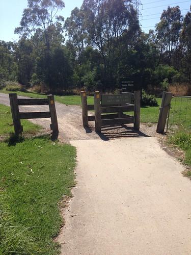 Gate on Main Yarra Trail near Burke Road