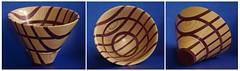 Ash & Purpleheart Bowl From a Board (C r u s a d e r) Tags: woodturning woodwork segmented ash purpleheart bowlfromaboard imadeitmyself hobby symmetry pentaxk3 lathe powermatic