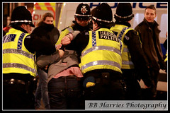 Wales vs England Rugby Day (BB Harries Photography) Tags: policevehicle van policevan southwales highviz walesvsengland matchday cardiffcity cardiffcitycentre cardiff restrained restrain cuffed handcuffed heddlu southwalespolice police arrested arrest suspect criminal