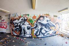 Warf (Thomas Hawk) Tags: america california cossonhall sf sagehall sanfrancisco starburst ti treasureisland usa unitedstates unitedstatesofamerica abandoned barracks decay graffiti warf fav10 fav25