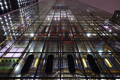 Leadenhall Building Vanishing Point [31/365 2017] (steven.kemp) Tags: london night city undershaft st helens cheesegrater leadenhall building bishopsgate vanishing point low pov perspective lines linear architecture offices reflection symmetry